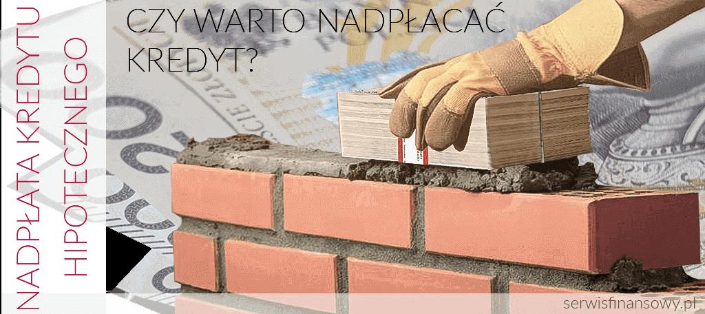 spłata lub nadpłata kredytu hipotecznego